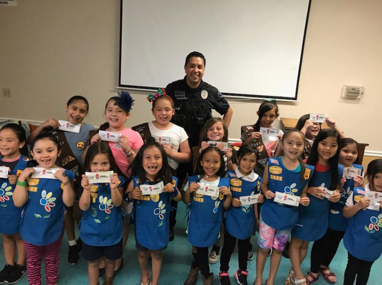 San Gabriel Officers Discussed Safety With Girl Scout Troop #7121